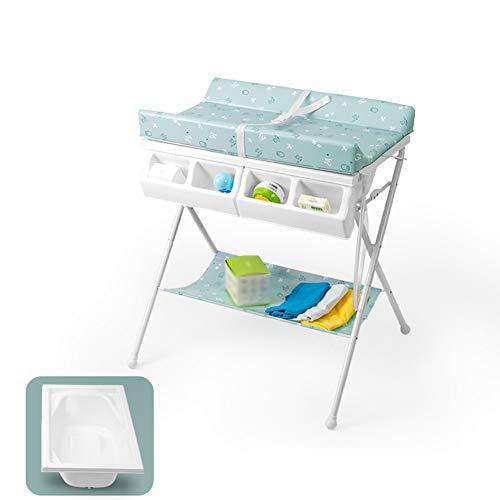 Tragbare Babywickelauflage, Faltbare Windel-Station mit Bidet Dresser Einheit for Kindergärten (Color : Green)