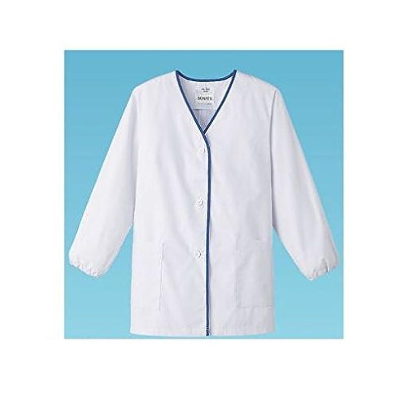 父方の形状政権HU63019 女性用デザイン白衣 長袖 FA-348 S