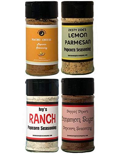 Buy Bargain Premium | POPCORN SEASONING | Variety 4 Pack | Ranch | Cinnamon Sugar | Nacho Cheese | L...