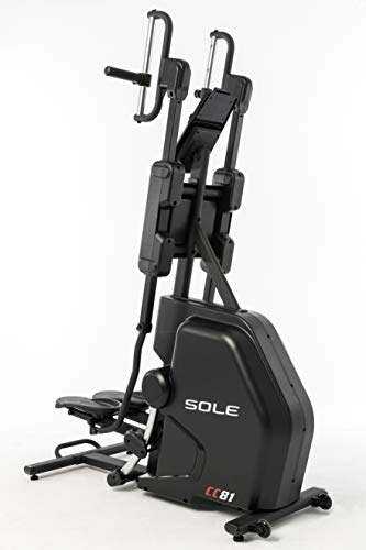 SOLE, CC81 Cardio Climber, Full Body Home Workout, Integrated Technology, LCD Screen, High Intensity Interval Training, Low-Impact Design