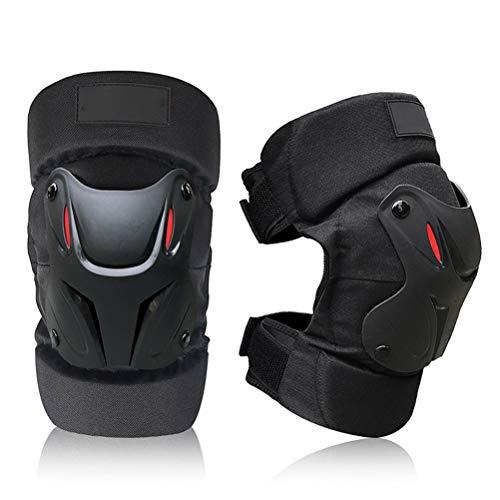 Calayu 1 Paar Knieschoner für Erwachsene, verstellbares ergonomisches Gelenkdesign Knieprotektoren Schutzausrüstung für Motorrad, Fahrrad, Skateboard