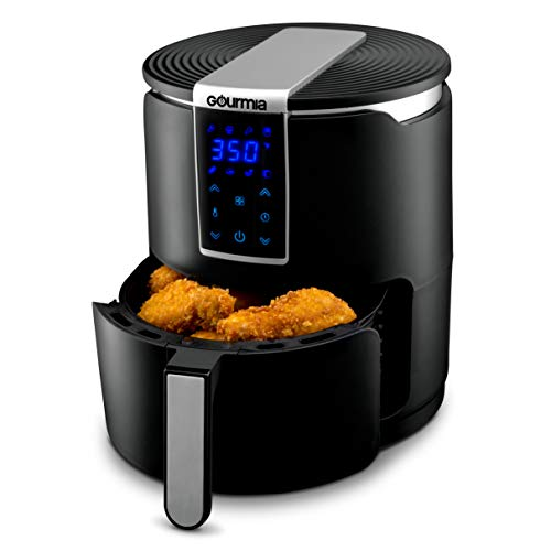 Gourmia GAF265 Digital Air Fryer - Oil-Free Healthy Cooking - 4-Quart Capacity - 8 Cook Modes - Removable, Dishwasher-Safe Tray - Free Recipe Book Included