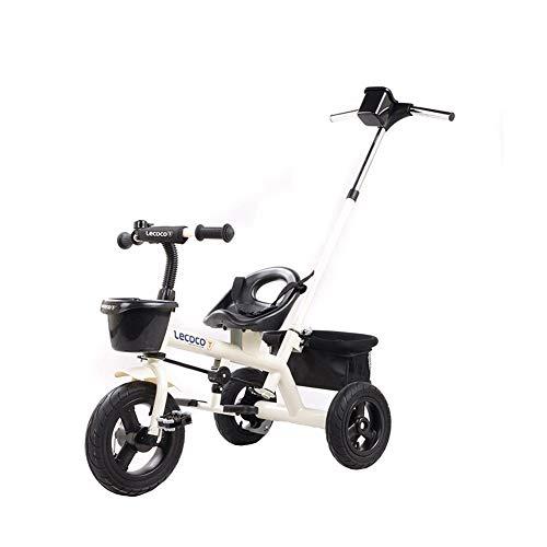 GYF Cumpleaños De Los Niños del Cochecito De Bebé De Bicicletas Bici De Múltiples Funciones De Los Niños Niño Y Niña con Juguete Triciclo (Color : White)