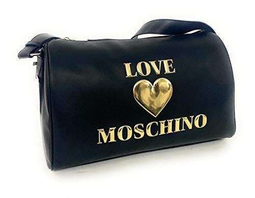 Love Moschino BORSA PU, Bolso de mujer, Negro, Normale