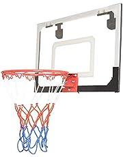 Adminitto88 - Canasta de baloncesto para interior y exterior, cesta de baloncesto para habitaciones, juego con pelota y bomba de aire, tabla para colgar en la puerta, sin taladrar, multicolor