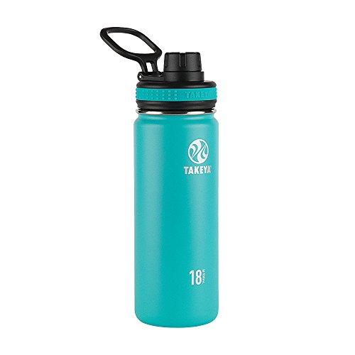 Takeya Ocean Originals Vacuum-Insulated Stainless-Steel Water Bottle, 18oz