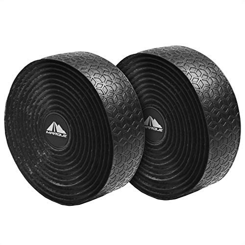 MARQUE Tacky Bike Handlebar Tape – Bicycle Handle Bar Tape Wrap for Road and Gravel Bikes with Drop Bars, Comfortable Grip and Confident Steering - Set of 2 Rolls per Set