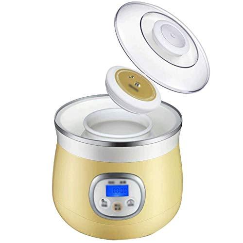 XJJZS Pequeño automático Mini Yogurt máquina for Uso doméstico, microordenador Inteligente de Control de Temperatura del Revestimiento de cerámica