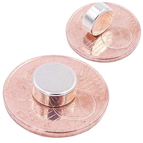 Brudazon | 10 Mini Scheiben-Magnete 9x4mm | N52 stärkste Stufe - Neodym-Magnete ultrastark | Power-Magnet für Modellbau, Foto, Whiteboard, Pinnwand, Kühlschrank, Basteln | Magnetscheibe extra stark