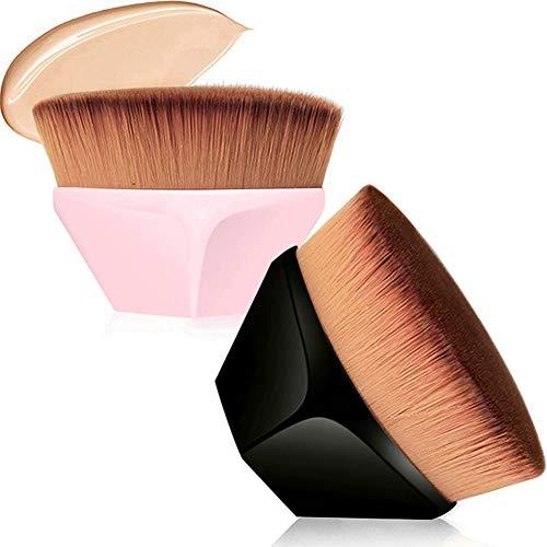 2 Pcs Makeup Foundation Brush,Petal-Shaped Multi Functional High Density...