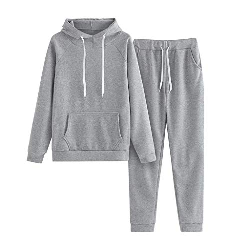 Damen Sportanzug Trainingsanzug Mode 2-teiliges Set Jumpsuit Jogging Anzug Overall Sport Hoodie Langarm Sweatshirt Pullover Top + Lange Hose Jogginganzug Sportbekleidung Freizeitbekleidung Set Outfit