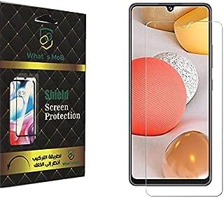 شاشة حماية من الزجاج المقوى لموبايل سامسونج ايه 22 مع تقنية نانو قابلة للتثبيت، بخاصية 5G - بلون شفاف، من واتس موب