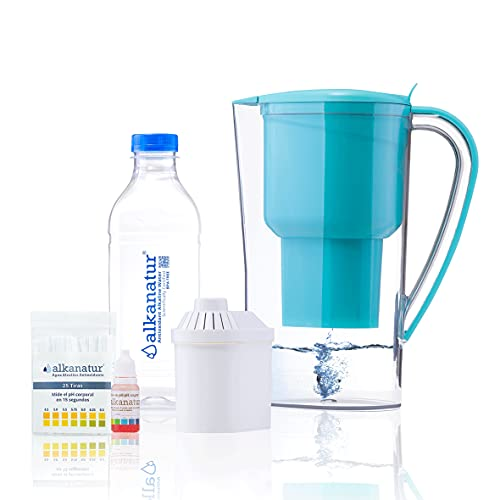 Jarra Alkanatur Drops. Alcaliniza, depura e ioniza agua. pH...