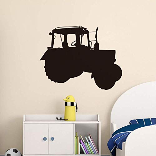 Wall Stickers,Simple Wall Sticker Farm Tractor Flower Vinyl Adhesive Child Truck Art Design Children Room Detachable Wallpaper