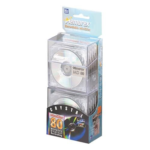MEMOREX 1520-2200 MD80 MiniDisc - Pack of 20