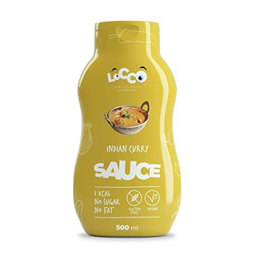 LOCCO - Salsa de curry indio sin azúcar baja en calorías