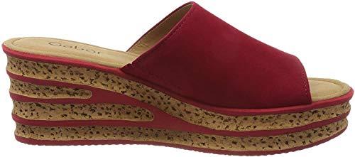 Gabor Shoes Damen Casual Pantoletten, Rot (Rubin 15), 44 EU
