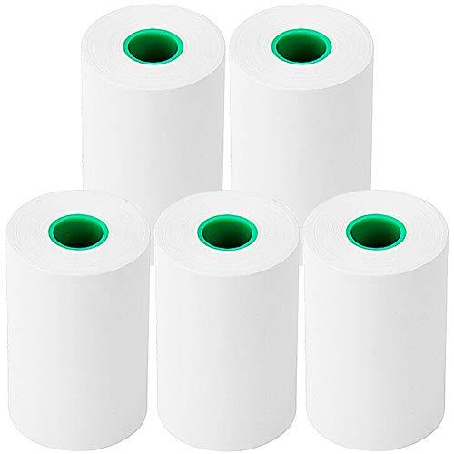 5 Rollos de Papel Térmico Duradero de 80 mm * 50 mm * 21 m, Papel de Impresión de Caja Registradora de Supermercado, Impresión Suave y Delicada
