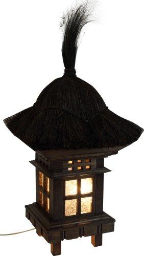 Guru-Shop Bali Gartenleuchte Inkl. Outdoor Kabel - Modell 1, Holz, 60x25x25 cm, Outdoorlights Gartenleuchten