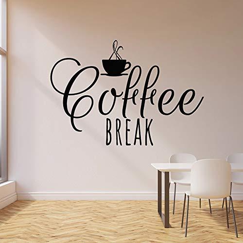 Tianpengyuanshuai Wandaufkleber Getränk Getränk Kaffee Lounge Tasse Café Küche Dekoration Vinyl Aufkleber Kunst abnehmbar 68X98cm