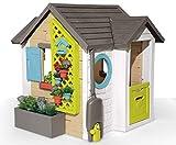 Smoby - Casita Infantil Tematizada Garden House con Múltiples Accesorios, para Niños a partir de 2 Años - 128.5 x 132 x 135 cm