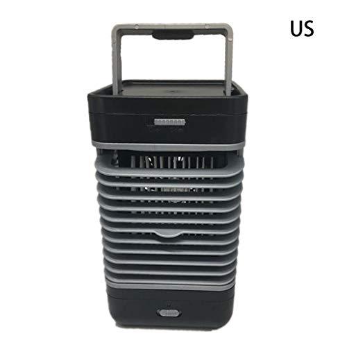 Luchtkoeler, 3-in-1 draagbare mini-airconditioner, luchtbevochtiger en reiniger met 2 snelheden voor Quick Cool Home Office Bureau Slaapkamer Outdoor Wij