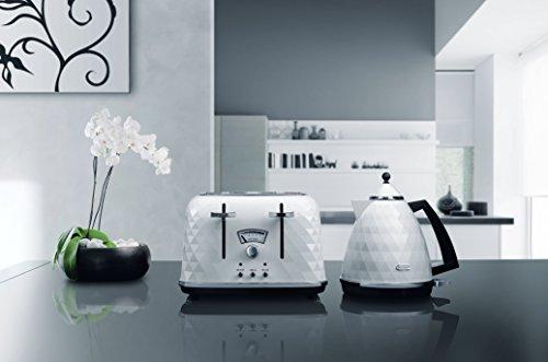 De'Longhi Brillante CTJ4003W 4-Slice Toaster - White