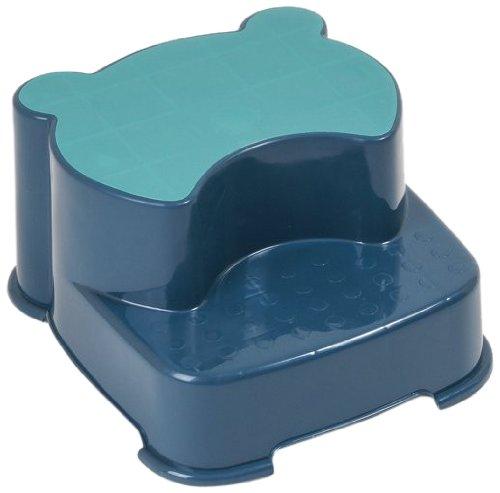 Dr. Schandelmeier 355657 2-Stufen-Kinderschemel Tritthocker, blau-türkis