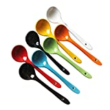 UgyDuky 6' Long Ceramic Spoons Porcelain Soup Spoons Teaspoons for Coffee, Tea, Yogurt, Ice-cream, Appetizers and Desserts, Set of 8 (Assorted Colors)