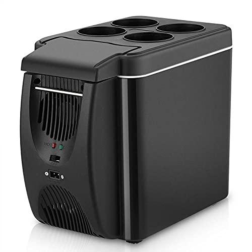 FIONAT Refrigerador de 12 V, calentador de congelador, 6L, Mini refrigerador y calentador de congelador de coche, refrigerador eléctrico, nevera portátil de viaje, 25,5x18,5x32,5 cm