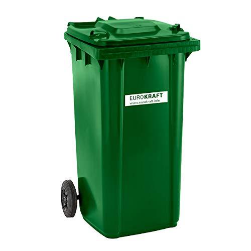 großmüllt onne de plástico, según DIN EN 840–Volumen 240l, dimensiones: 1067x 580x 730mm–Verde–Contenedor de basura Cubo de basura coleccionistas–Cubo de basura