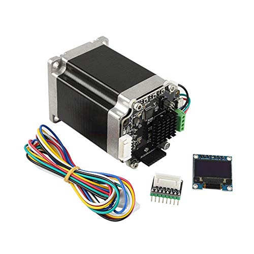 MDYHJDHYQ 3D Accessoires d'imprimante Boucle fermée 57 Stepper Motor Set Servomoteur avec Adaptateur mère + OLED12864 for Display Accessoires imprimante 3D de l'imprimante 3D