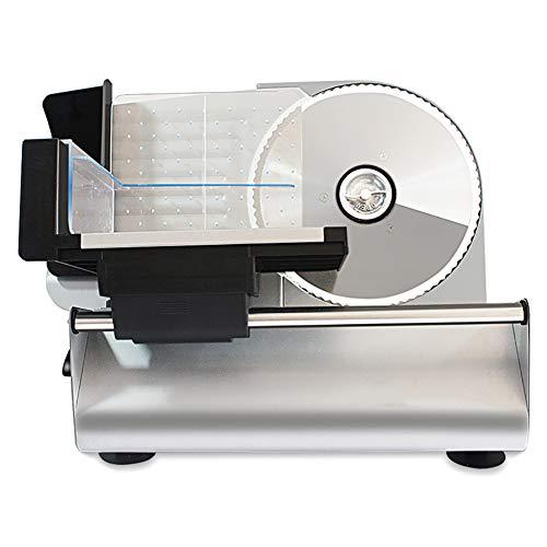 1Rebanadora de alimentos eléctrica,Cortadora de carne de acero inoxidable Máquina para cortar carne de cordero, Cortadora de carne congelada para el hogar Cortadora de frutas y verduras