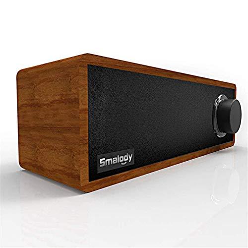 ZWMM Soundbar FüR Tv GeräTe,Soundbar Mit Subwoofer Für TV 360 ° Surround Sound Bluetooth 5.0 Mit LED-Knopf Holzlautsprecher Tragbarer Mini Geeignet Für Home Party Und Büro
