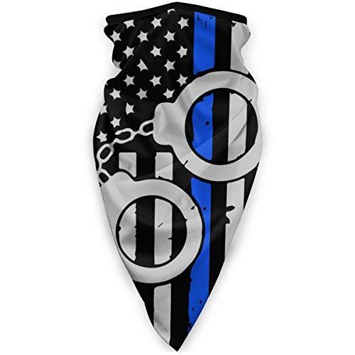 Esposas de la policía Bandera de la delgada línea azul Máscaras faciales de los hombres estadounidenses Bandana para ciclismo al aire libre