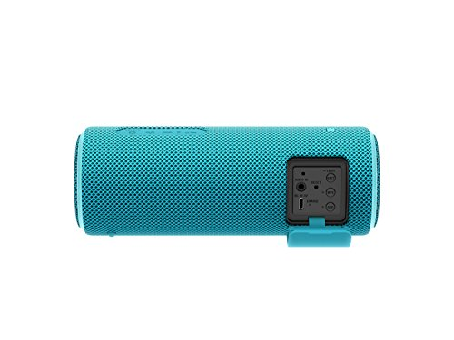 Sony SRSXB21L - Altavoz portátil Bluetooth (Extra bass, modo sonido live, party booster, luces de fiesta llamativas), color azul