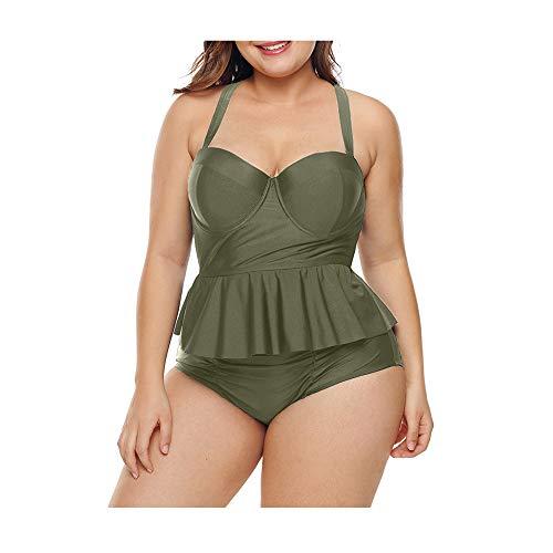 Badpak bikini broek voor dames met hoge taille, conservatief verdeeld