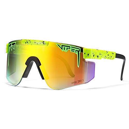 HUALUWANG Crótalo Gafas de Sol, Gafas de Sol para Deportes al Aire Libre Gafas Polarizadas, Gafas de Conducción de Pesca para Hombres yMujeres a Prueba de Viento, Protección UV