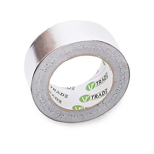 V1 Trade - Aluminium Klebeband, Selbstklebendes Aluminium Tape, Reperaturband Alu tape für Reparaturen - 1 Rolle (48 mm x 25 m)