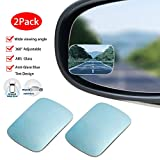 EEEKit 2-Pack Adjustable Blind Spot Mirror, 360 Degree Wide Angle Rear View Car