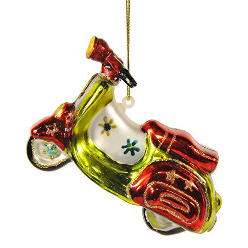 INGE-GLAS Weihnachts-Hänger Roller rot-grün