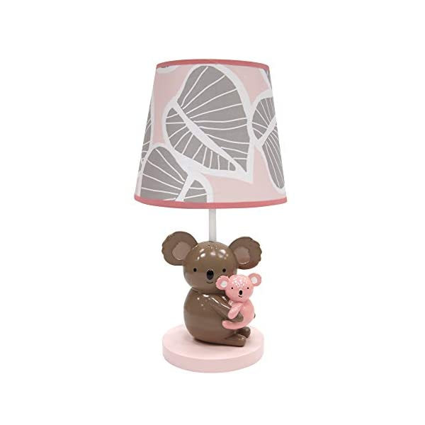 Lambs & Ivy Calypso Lamp Pink/Gray Koala Nursery Lamp with Shade & Bulb