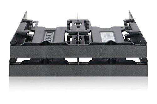 ICY DOCK Einbaurahmen für 4X 2,5 Zoll (6,4cm) SSDs/HDDs in 1x 5,25 Zoll (13,3cm) Flex-Fit Quattro MB344SP