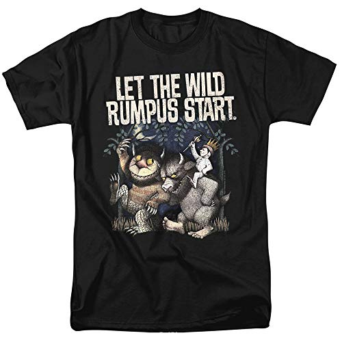 Where The Wild Things are Wild Rumpus Unisex Adult T Shirt for Men and Women, Black, X-Large