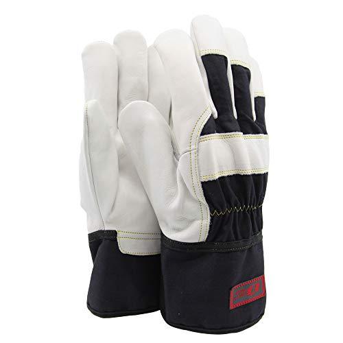 Soft Touch Lederhandschuh aus Rindsleder, Halb gefüttert Arbeitshandschuhe Heavy Duty Schwarz - Allround-Handschuhe aus Leder - 10 / XL - 1 Paar