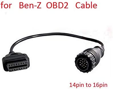 For Mercedes Benz MB OBD Connect 14 Pin Male to OBD2 OBDII DLC 16 Pin 16pin Female Connection product image