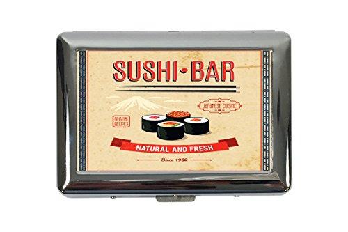 portasigarette in Metallo Vacanza Agenzia Viaggi Barra di sushi Stampato
