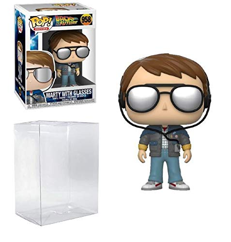 Marty McFly with Glasses #958 Pop Movies: Back to The Future Vinyl Figure (Includes Ecotek Pop Box...