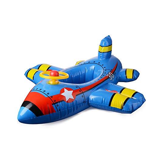 NanXi Baby-Float Sitz Boot, Aufblasbares Flugzeug Motorboot Mit Lenkrad-Floating-Ride-On-Schwimmen-Ring Für Kinder Alter 1-4 Jahre Alt