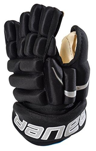 BAUER - Eishockey Schutzhandschuhe Prodigy Junior für Kinder I kinderspezifische Passform I Handschuhe für Eishockey-Spieler I Eishockeyzubehör für Kinder I Kinder-Eishockey I gefüttert I Schwarz - S